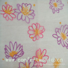 Polyester Etched-out Velvet Fabric for Curtain