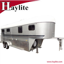 China gooseneck horse trailer horse float angle load