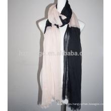 Forme la bufanda viscosa del color del contraste del 100%