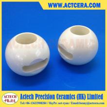 Zirkoniumdioxid und Aluminiumoxid Keramik Kugelhahn Präzisionsbearbeitung