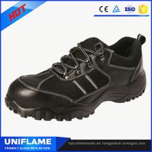 Elegantes zapatos de seguridad con suela de goma para casquillo de puntera de acero casual Ufa085