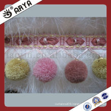 Small Pom Pom Trimming Fringes For Curtain Fringes And Light Shades Pompom Key Pendant