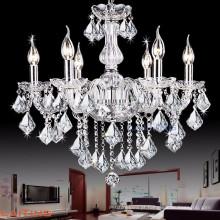 Venda quente antigo branco dobra de cristal de vidro vela lustre de peças de iluminação 81027