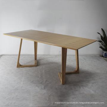 Comedor de diseño moderno Mesa de comedor de madera maciza
