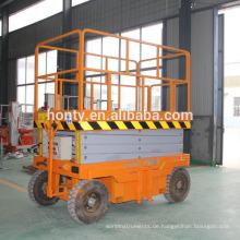 Selbstfahrende hydraulische Scherenhebebühne Einmannaufzug Selbstangetriebene hydraulische Scherenhebebühne Einmannaufzug