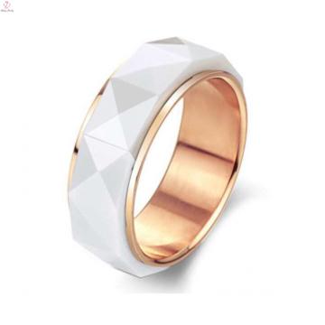 Korean Wholesale Saudi Micron Gold Plated Ceramic Ring