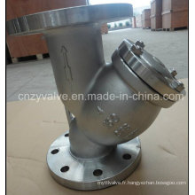 Classe150 4inch Y Type Stainless 304 ou CF8 Flange Steel Strainer