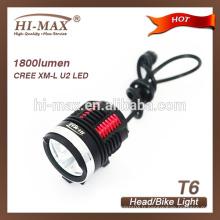 Torche de plongée CREE XM-L U3 * 3 lampe frontale pour phares de vélo