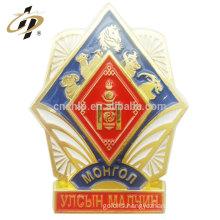 Promotional metal enamel own logo custom lapel pin manufacturers china
