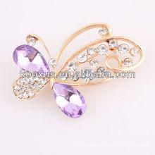 Rhinestone butterfly brooch for wedding invitations