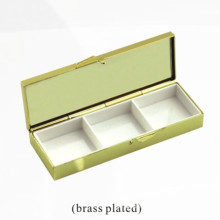 Boîte de rangement en bijoux en métal et cosmétique (BOX-34)