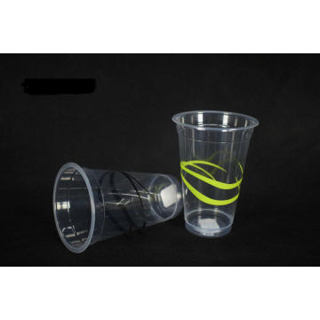 420ml Disposable Ribbon Plastic Cup