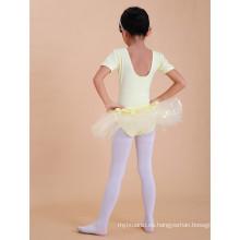 Vestido de ballet de las muchachas Vestido de ballet de las muchachas de las mangas rosadas y amarillas