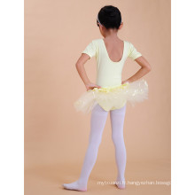 Robe de Ballet Filles Rose et Jaune Sleevess filles robe de ballet de noël