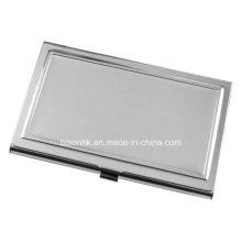 Titular de cartão de visita de aço inoxidável simples para o presente da promoção (BS-S-018A)