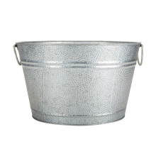 Round Tin Bucket Galvanized Bucket Round Shape