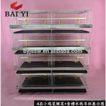 Tipo H, jaulas de incubadora de pollo de 4 capas para polluelos de pollito / día