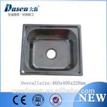 2016 Dasen DS-4640 18 pulgadas venta caliente modelos l; uxury acero inoxidable 304 o 201 material fregadero a la venta
