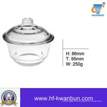Verre clair Sweetmeat Bowl Snack Bowl Ustensiles de cuisine Kb-Hn0366