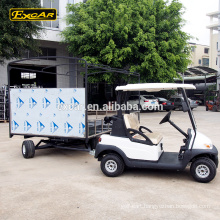 2 Seat electric golf cart similar as club car 4 steel electric trailer With customize trailer