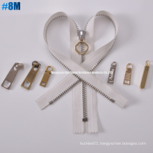Metal Brass One Way Open Zipper 8m Common Tooth, Long Chain