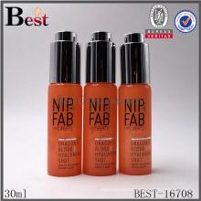 Super haute qualité cosmétiques 30 ml bouteille de parfum orange couleur bouteille de parfum 30 ml ronde forme bouteille de parfum 30 ml spray