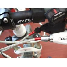Ciclismo Bicicleta Derailleur Cabo Linha de extremidade / Tampão de deslocamento Cabo de 4 milímetros Cilindro de linha Alumínio Alloy BikeLine End Cap