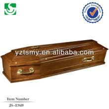 alça dourada com Cruz de ouro para o caixão tradicional