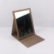 Custom made couro espelho dobrável caixa de presente fornecedor chinês