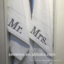 Authentique hôtel personnalisé Mr et Mme Cotton serviettes à main BT-109