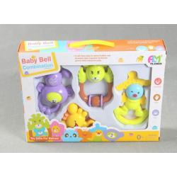Animal Fun 4 Piece Baby Rattle