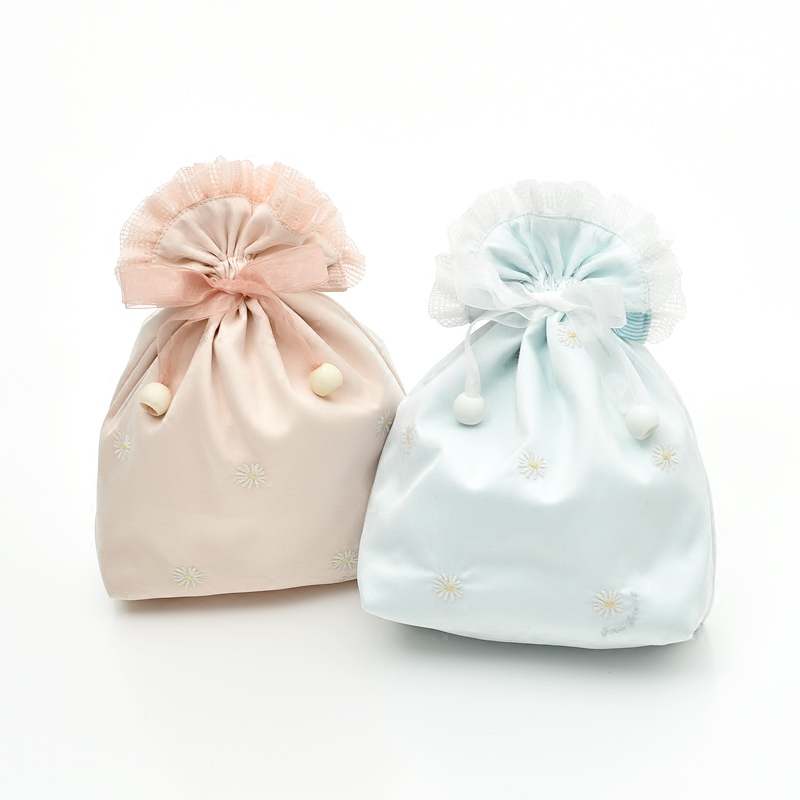 4x6 Inch wedding favor drawstring satin bag