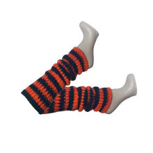 Orange Black Leg Warmers Fun Fashion Halloween Team Spirit