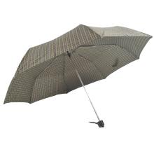 3 fach billiger Porzellanmechanismus schwarze Zeichnungsblume manuell geöffneter Regenschirm