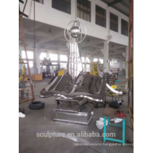 High quality 304l stainless steel abstract sculpture for sale zhejiang jinhua