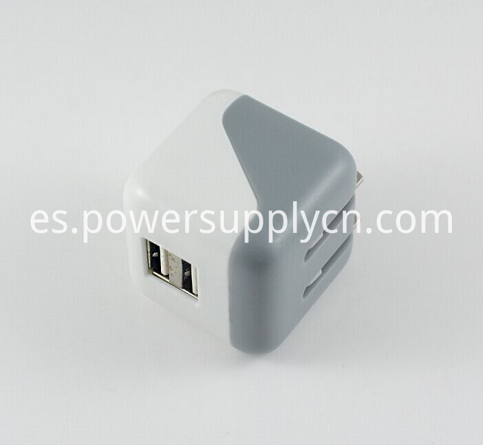 Foldable Dual USB Mini Travel Charger