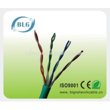 Fabricantes 24awg CCA / CCS / CU cat5e cable del LAN del alambre del ADSL