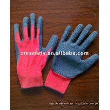 Красный Латекс покрытием перчатки для садоводства ZMR404