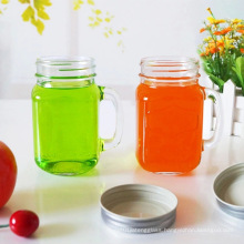 12oz 16oz Glass Mason Jar with Handle and Straw