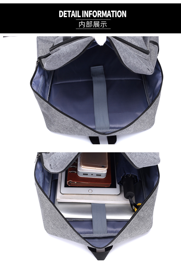 Antitheft Backpack Bag With USB Port