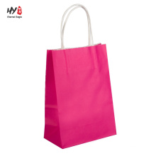 Cheap kraft one color fully printed paper bag with handle