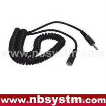 Enchufe estéreo de 3.5mm al cable estéreo del cable en espiral de 3.5mm