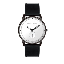 oem tendencia diseño negro acero inoxidable japan quartz watch