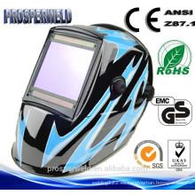 CE EN379 aprobó la máscara patentada de la soldadura del diseño, 4 sensores solares oscurecen el casco solar de la soldadura con las etiquetas