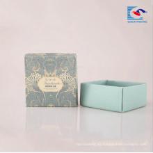 Logotipo personalizado impreso caja de cartón de embalaje de lujo de cartón reciclado de papel para jabones