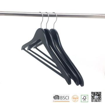Pantalon noir barre anti dérapant épaule bois cintres pour tissu