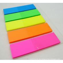 Fluoreszierende helle Farbe Sticky Note Set für Schule und Büro Supply Dh-04A