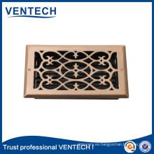 Construyendo la rejilla de aire del piso para uso de ventilación