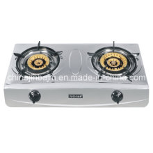 2 Burner Brass Burner Cap Gas Stove