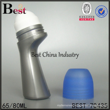 empty refilled 65ml 2oz 80ml plastic container deodorant bottle with roll on
